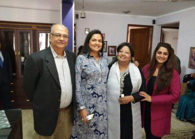 Mynoo with Dr Bhatnagar Meterologist