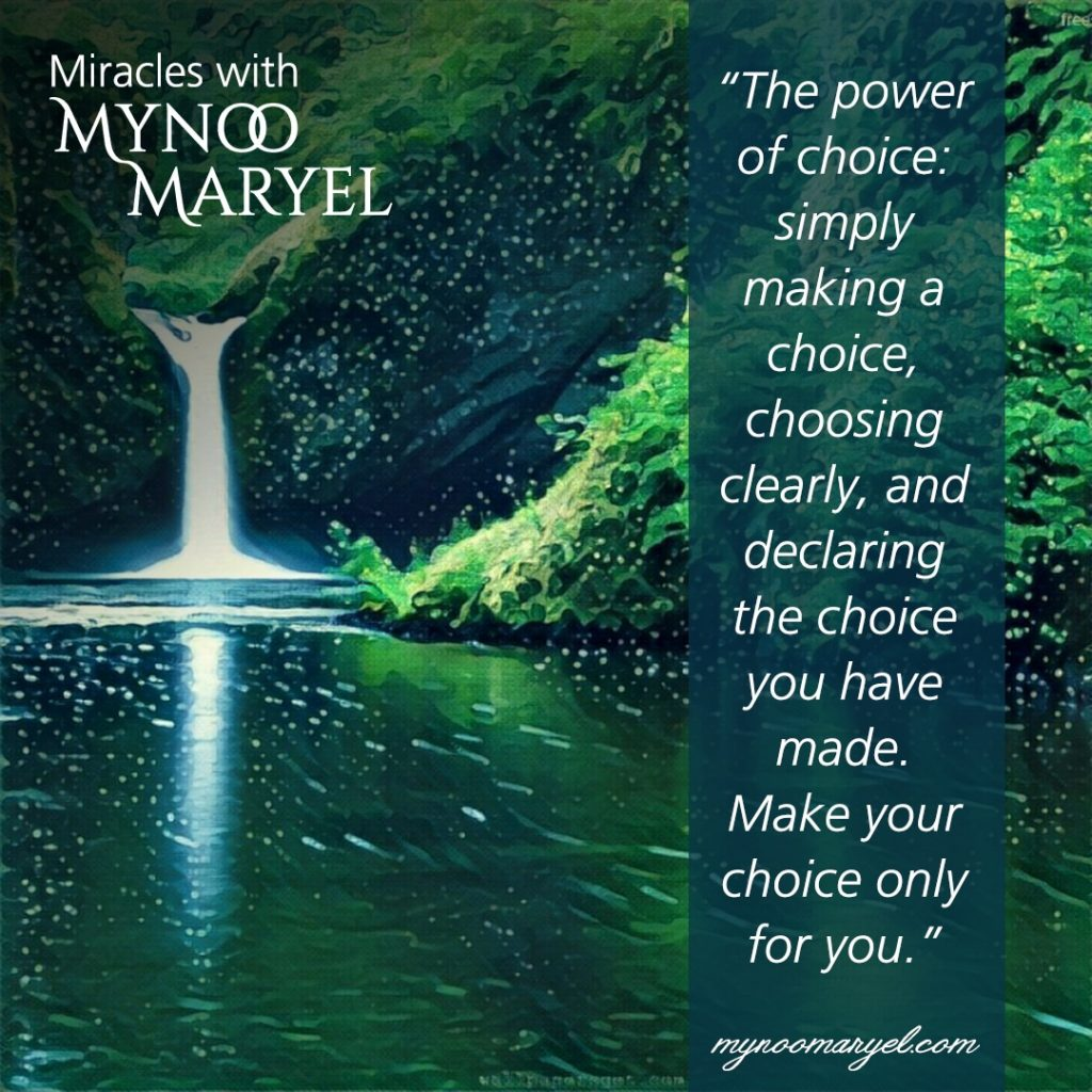 quote the power of choice