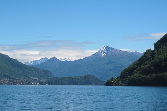 mountains surrounding lake como