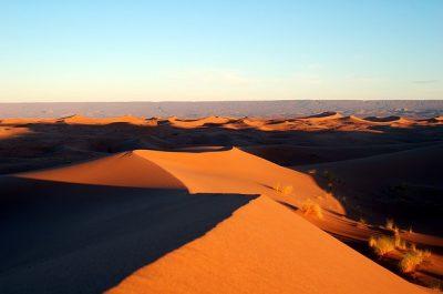 sand dunes in morocco desert