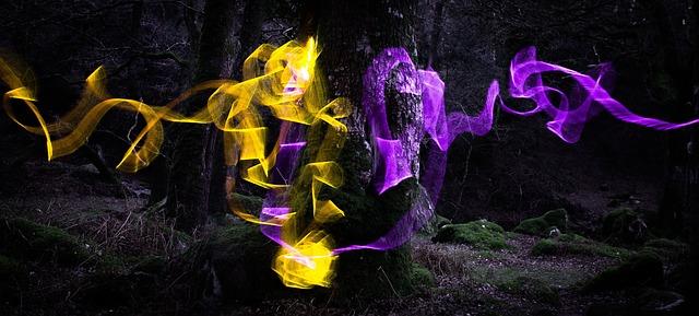 magical tree emits spells and magic