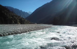 Why can the waters of the River Ganga never be contaminated?